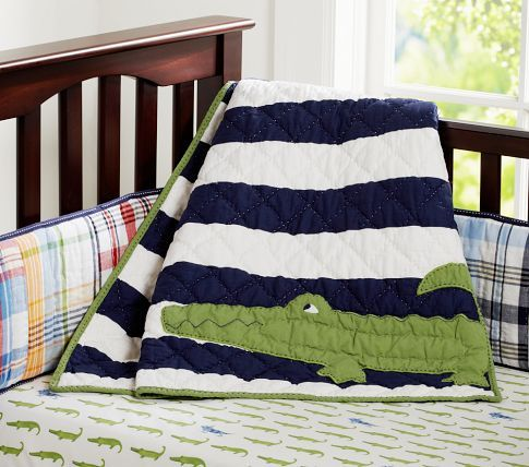 Alligator Madras Nursery Bedding | Pottery Barn Kids