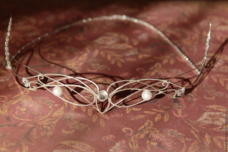 """Купить Диадема """"Дитя Луны"""" - серебряный, белый, диадема, украшение для волос, диадема невесты"""