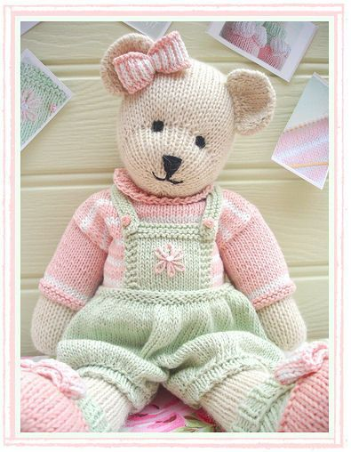 CANDY Bear / speelgoed / teddybeer breien door maryjanestearoom