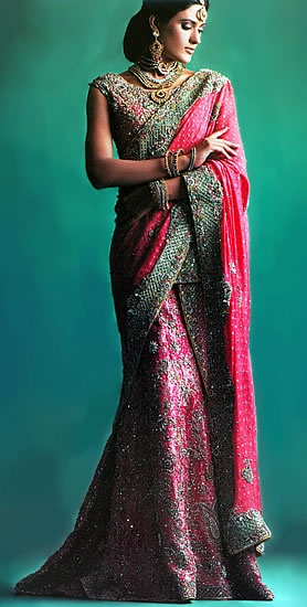 Is it bad form to wear a lengha to a wedding mass?  Maybe?  But the colors are great!