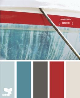 nice pallet....he loves red. the light color is almost his wall color too