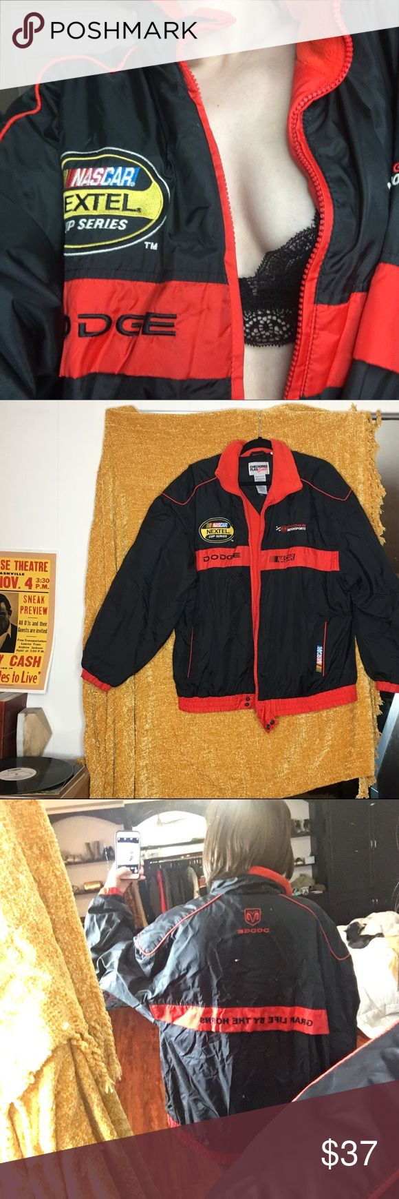 NASCAR puffer jacket Dodge NASCAR Grab life by the horns puffer jacket with thin fleece on the inside. This rad piece will keep you warm!! And make you look smoking 🚨🚨🏎🏎 nascar Jackets & Coats Puffers