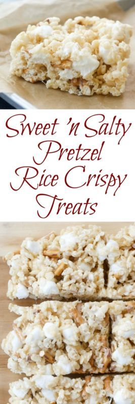Chewy, gooey, rice crispy treats loaded with marshmallow and generously sprinkled throughout with salty pretzels; these are my newest favorite rice crispy treat addiction.I have a well-known weakness for...