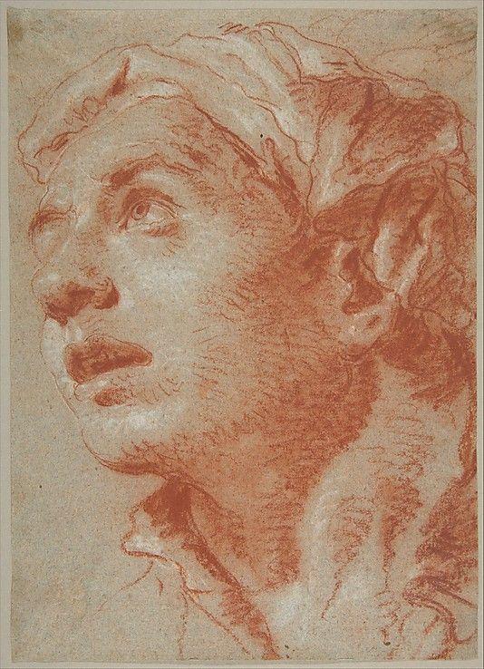 Head of a Young Man in Three-Quarter View. / Giovanni Battista Tiepolo