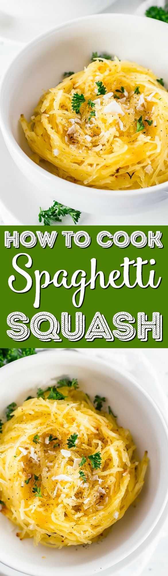 Use this simple step-by-step guide for How to Cook Spaghetti Squash in the oven for a delicious and healthy side dish, lunch, or dinner recipe!