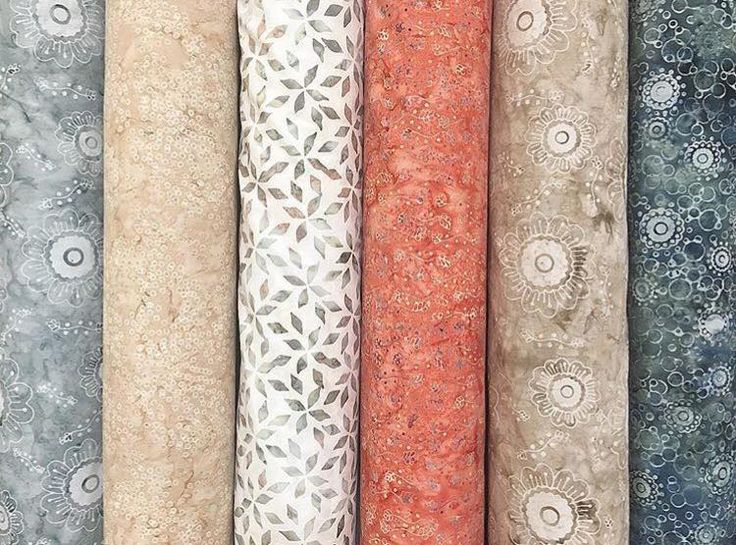 Petals and Vines: A Hoffman Bali Batik collection designed by Cindi McCracken Designs