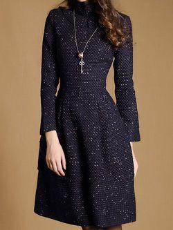 Woven Tweed Midi Dress