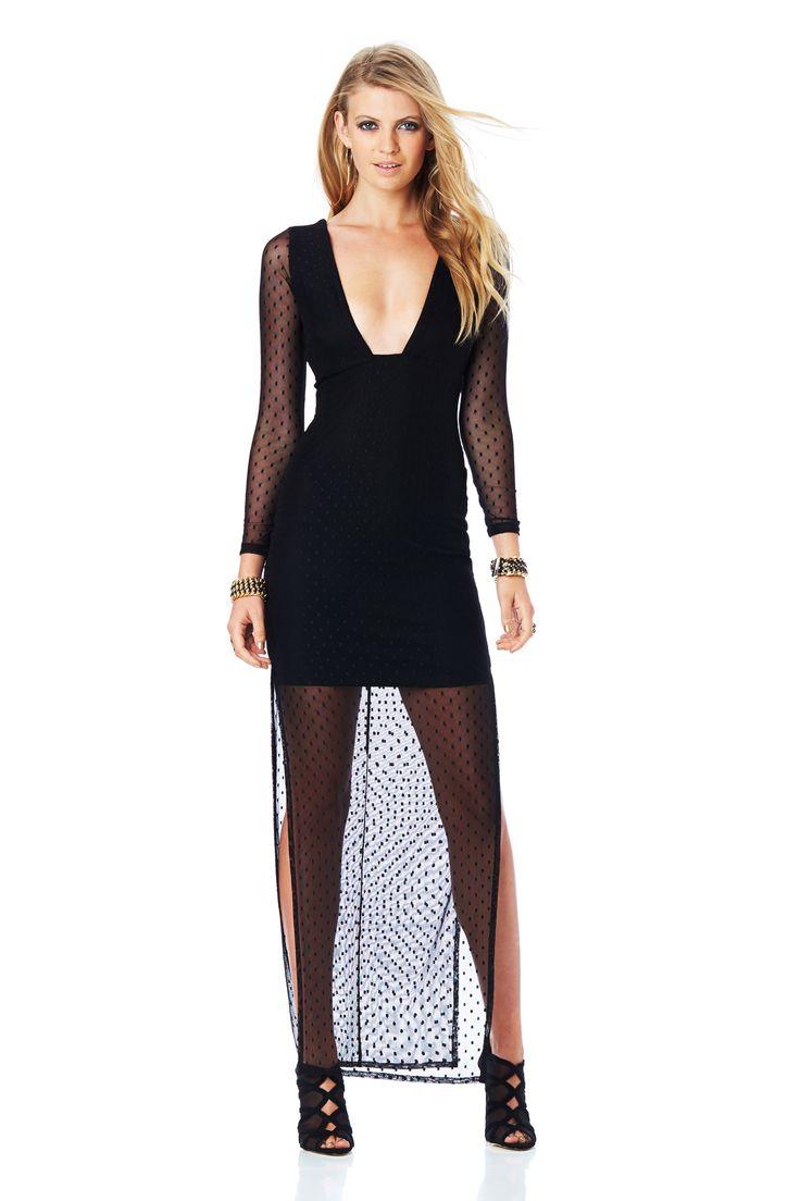 WINK MAXI DRESS (Black) #nookie#nw14