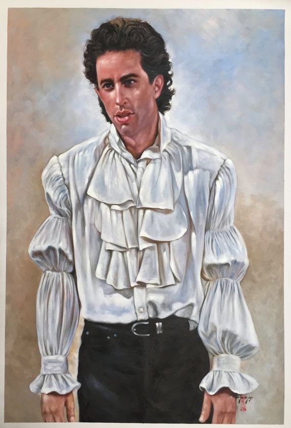 Seinfeld Jerry Seinfeld puffy shirt painting 24x36 by artkeepsake