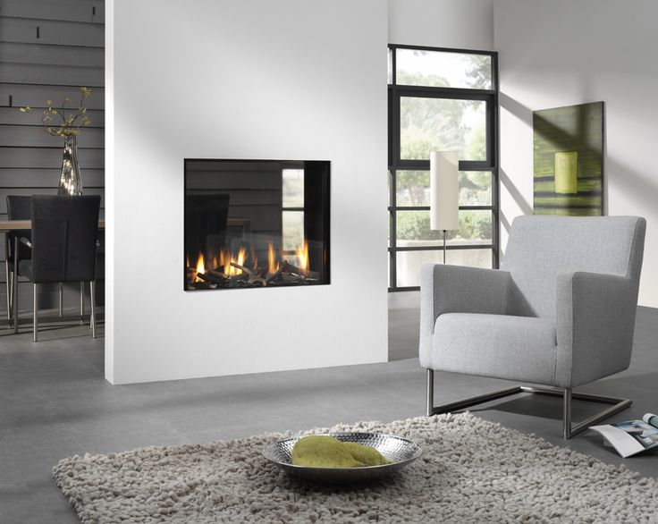 Bioptica beautiful see thru contemporary gas fireplace available at www europeanhome