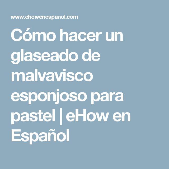 Cómo hacer un glaseado de malvavisco esponjoso para pastel | eHow en Español