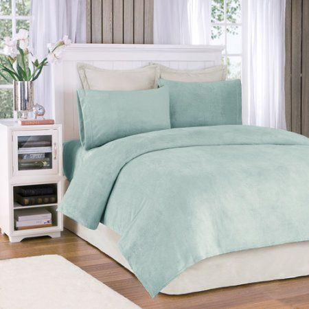 Comfort Classics Soloft Plush Solid Micro Raschel Bedding Sheet Set, Silver