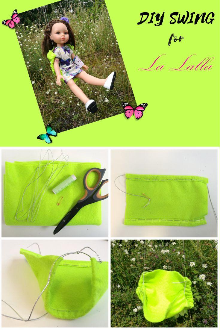 DIY swing for La Lalla doll. DIY Schaukel fur La Lalla Puppe. Huśtawka dla lalki La Lalla