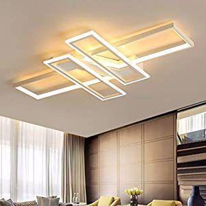 Wohnzimmerlampe Modern Led Decke Dimmbar Acryl Lampenschirm Deckenleuchte Chic Eckig Designer Lampe Esszimmer Esstisch In 2020 Lamps Living Room Ceiling Lamp Room Lamp