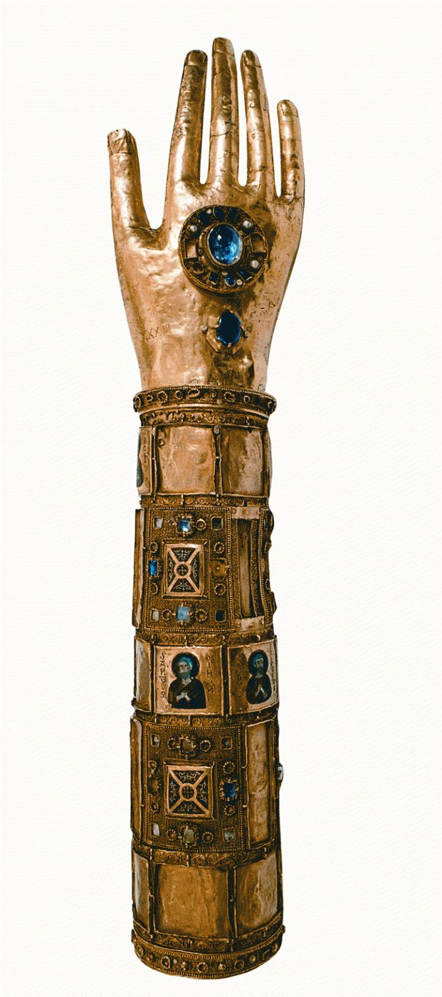 Reliquary of the arm of Saint Blaise, 12th century, Palermo