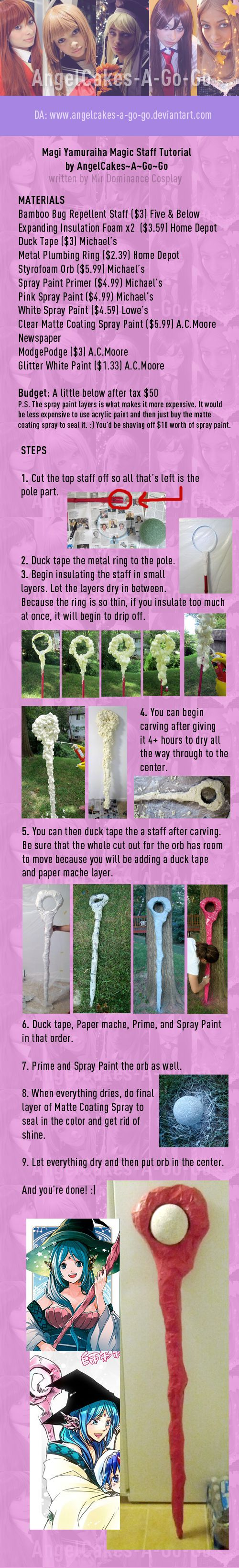 Magi Tutorial: Yamuraiha Staff by animeobsession02