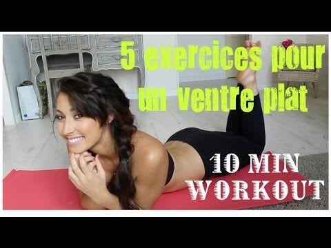 GET SEXY: Mes 5 meilleurs exercices pour un ventre plat en 10 minutes! | GeorgiaSecrets - YouTube