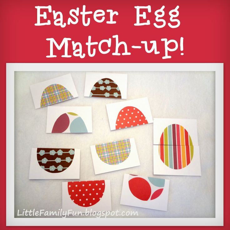Little Family Fun: Easter Egg Match-up: Activities For Kids, Easter Crafts, Easter Eggs, Matchup Activities, Families Fun, Easter Activities, Family Fun, Eggs Matching Up, Cards