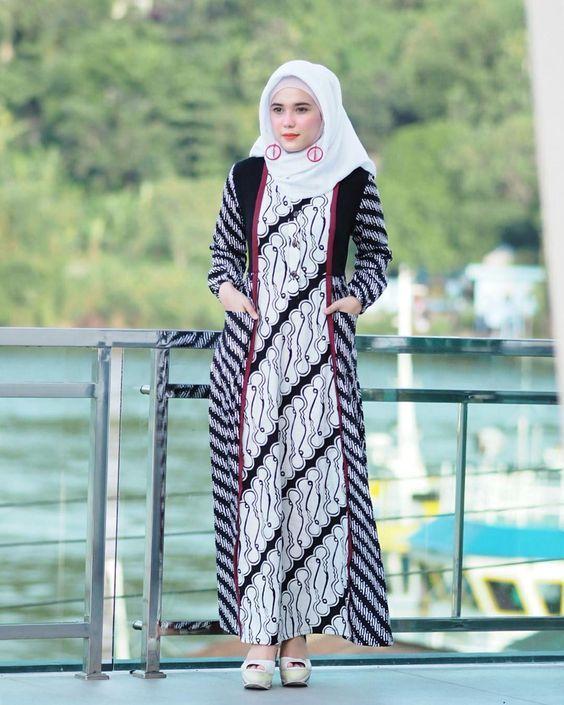 Model Baju Batik Dress Remaja Abaya Style Di 2019 Pakaian Model