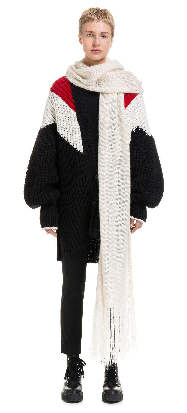 Long three-coloured jacket | BIMBA Y LOLA ®