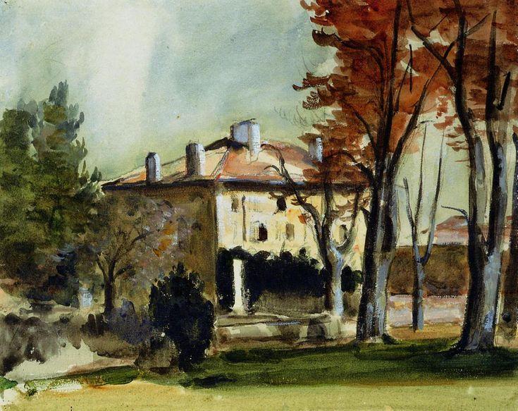 The Manor House at Jas de Bouffan - Paul Cezanne #cezanne #paintings #art