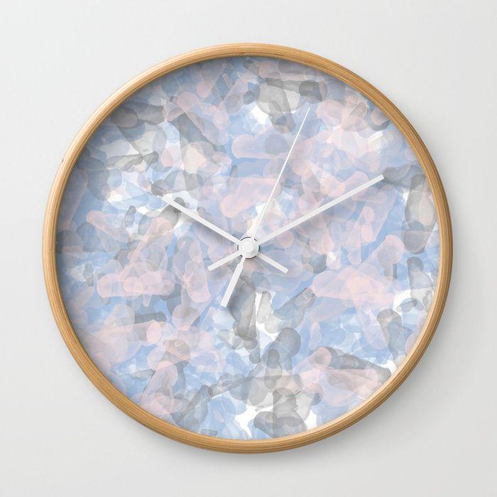 CRYSTAL BLUES wall clock NOW available at Society6.com/Borka shop #homedecor #house #clock #watch #bluedesign #trendy #homeideas #society6