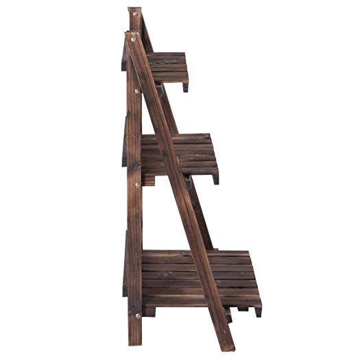 Amazon Com Giantex 3 Tier Folding Wooden Plant Stand 400 x 300