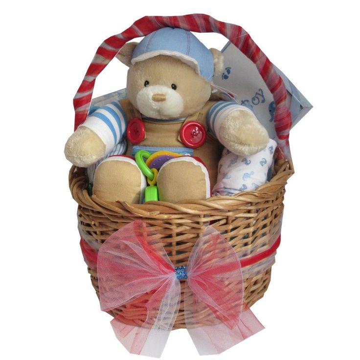 Baby boy luxury gift hamper filled with baby essentials