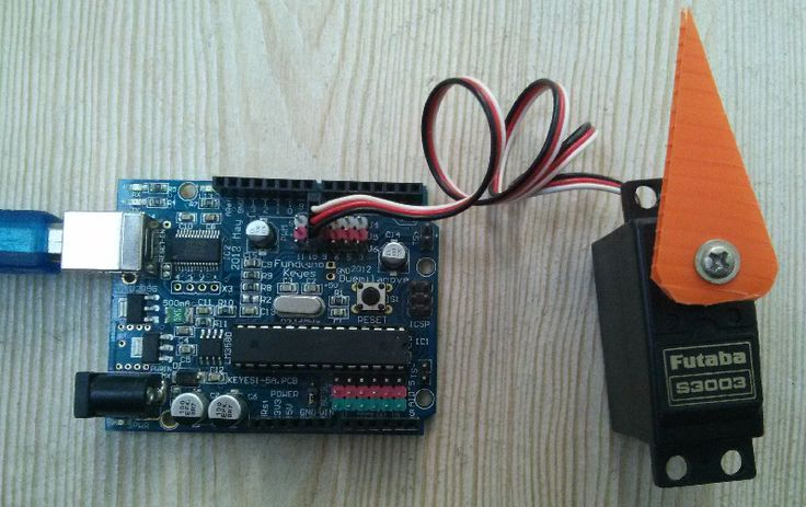 Microcontroller Kits Projects: Arduino USB Control Servo Motor