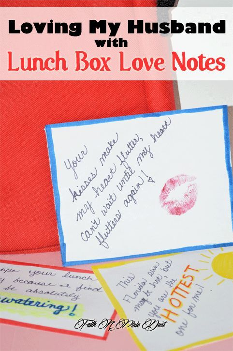 20 Creative lunch box love notes to send to your husband that will make him excited to come home every night!