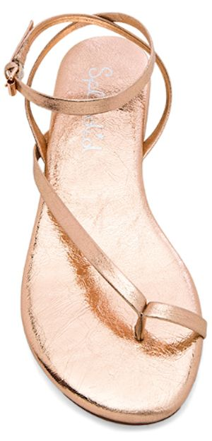 pretty rose gold summer sandals