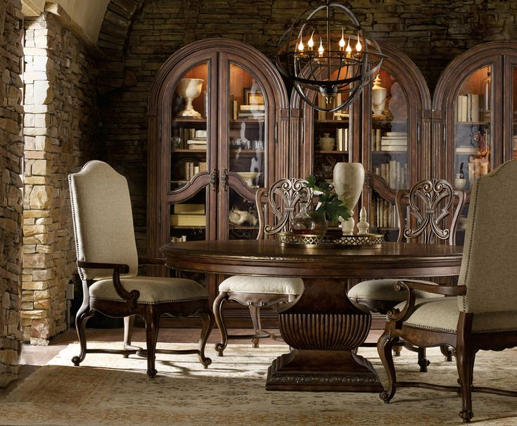 Dining Table And Bunching Cabinets   Colorado Style Home Furnishings