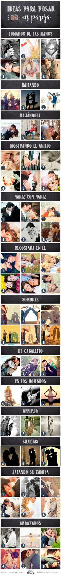 +100 Ideas para sesión de fotos en pareja   El Blog de una Novia                                                                                                                                                      Más