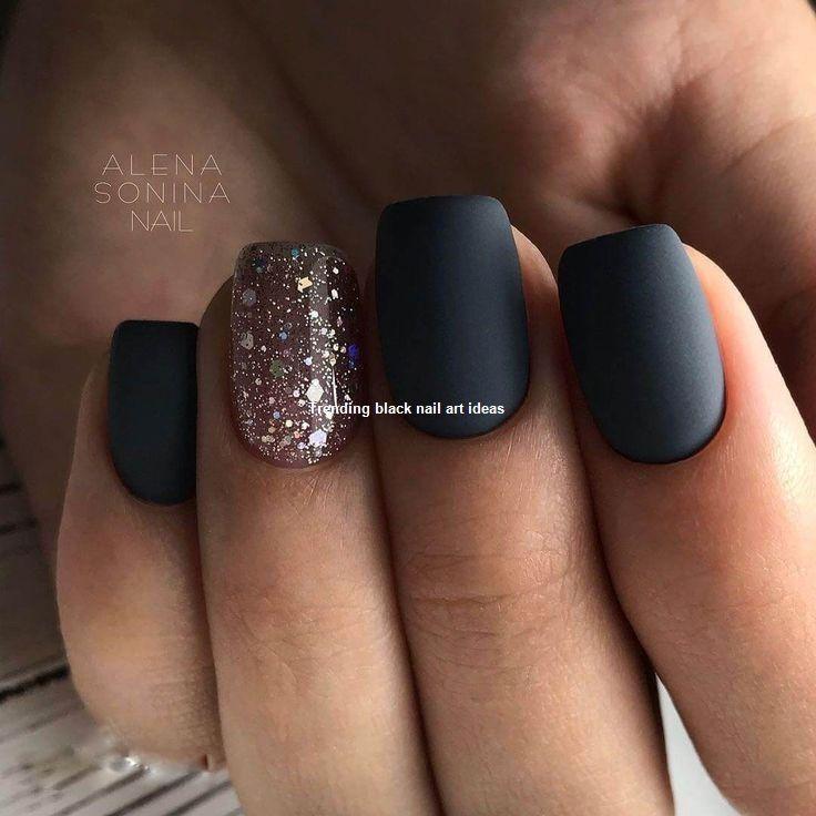 20 Simple Black Nail Art Design Ideas Naildesigns Blacknails Plain Nails Black Nail Designs Matte Nails Design