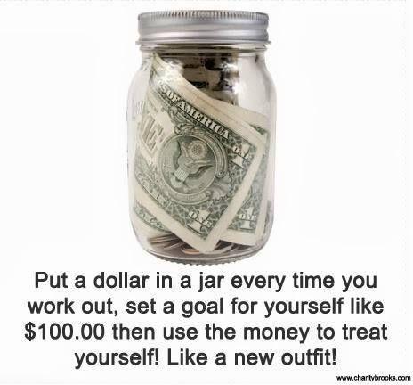 Workout Motivation Tip!  I'd use £1, but still an awesome idea!