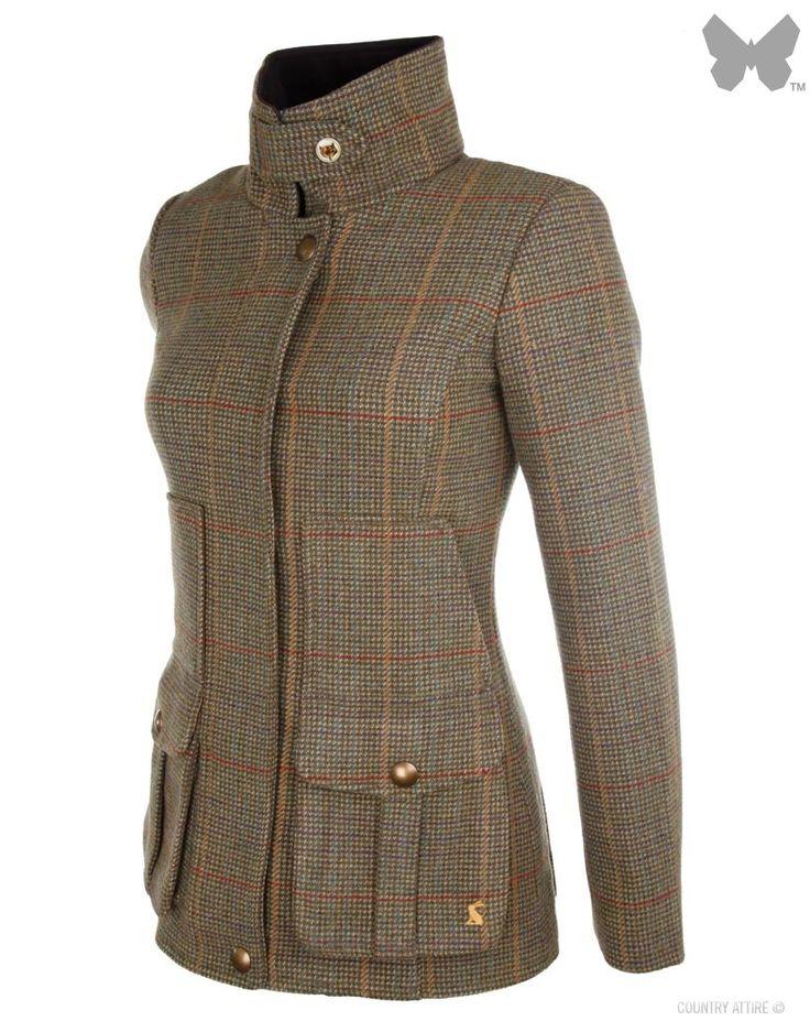 Joules Ladies' Tweed Fieldcoat – Mr Toad Q_FIELDCOAT   Country Attire