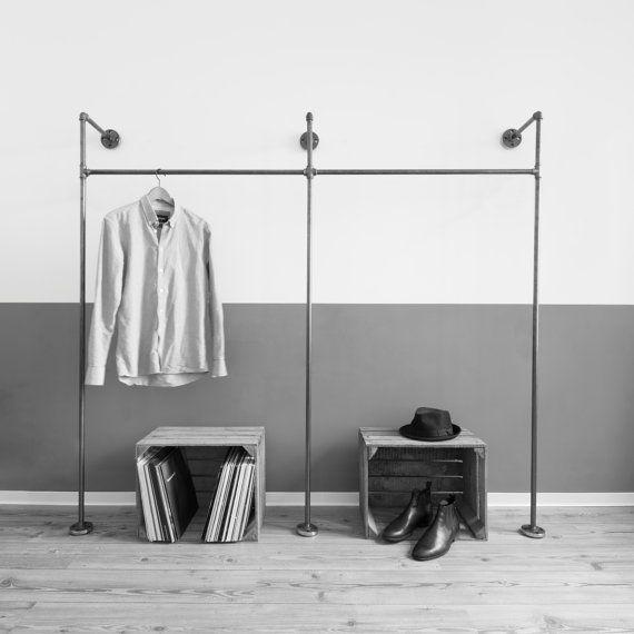 pipe open wardrobe clothing rack coat stood by VariousDesignShop