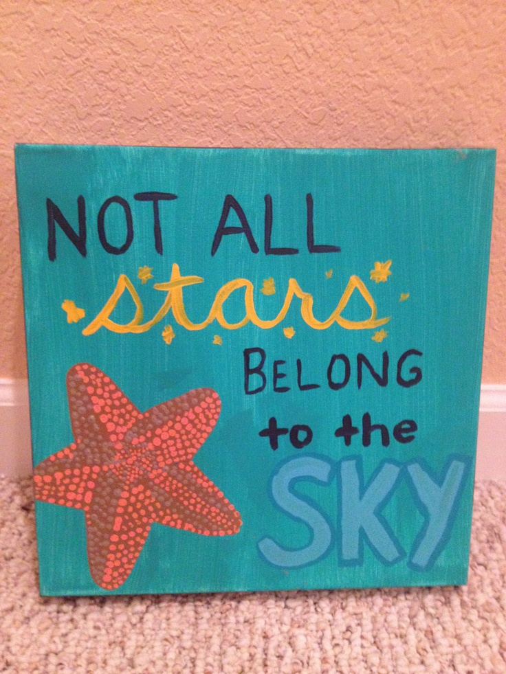 Handpainted Canvas With Starfish and Quote by EclecticVintageDecor, $35.00 @Carolyn Rafaelian Bucher