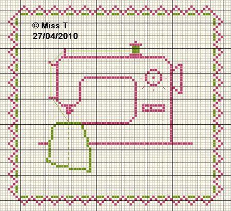 couturière- dressmaker - machine à coudre - point de croix - cross stitch - Blog : http://broderiemimie44.canalblog.com/