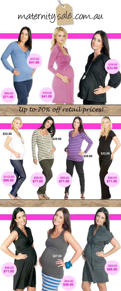 Maternity Sale – Comfortable & Stylish Clothing To See You All The Way Through Your Pregnancy: For Up To 70% Below RRP!