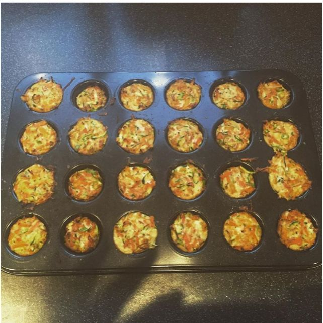 First attempt at Hemsley Hemsley breakfast muffins, whilst pregnant and suffering with severe hand pain.