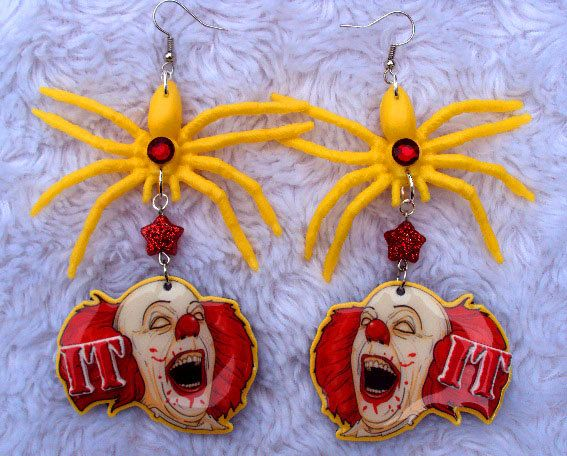 stephen kings it spider earrings pennywise the clown