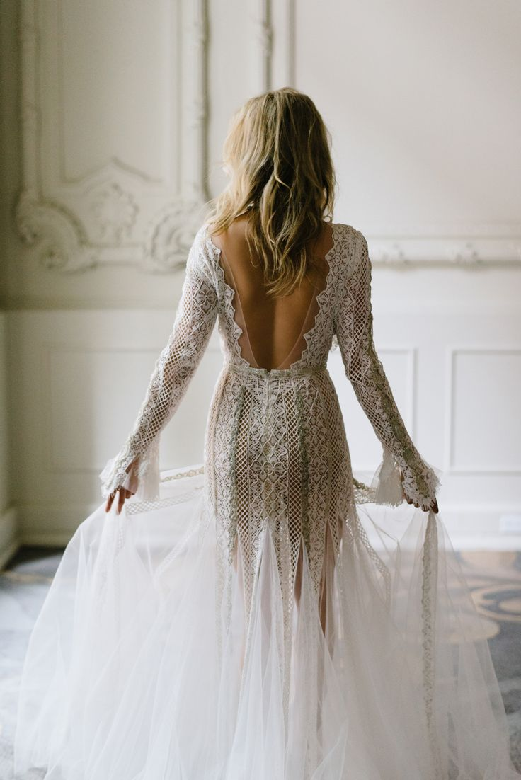 sexy and romantic wedding dress from Inbal Dror