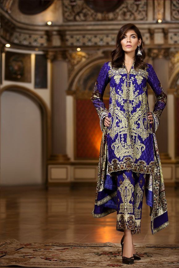b913900629 House of Ittehad Winter Embroidered Shawl Linen Dresses 2018-19 ...