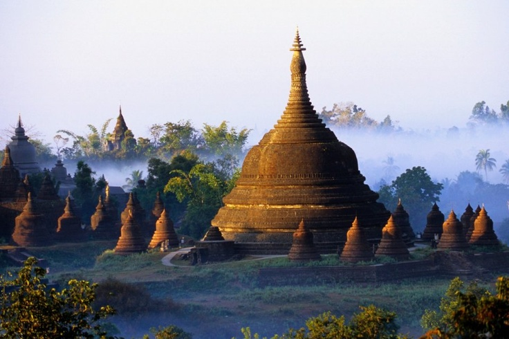Mrauk-U, Burma  May be gone soon due to the building of a railway :-(