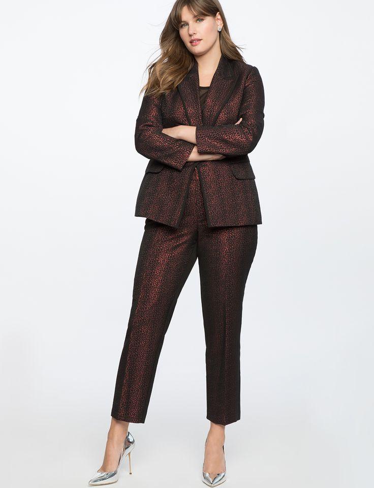 Leopard Jacquard Kady Pant | Women's Plus Size Pants