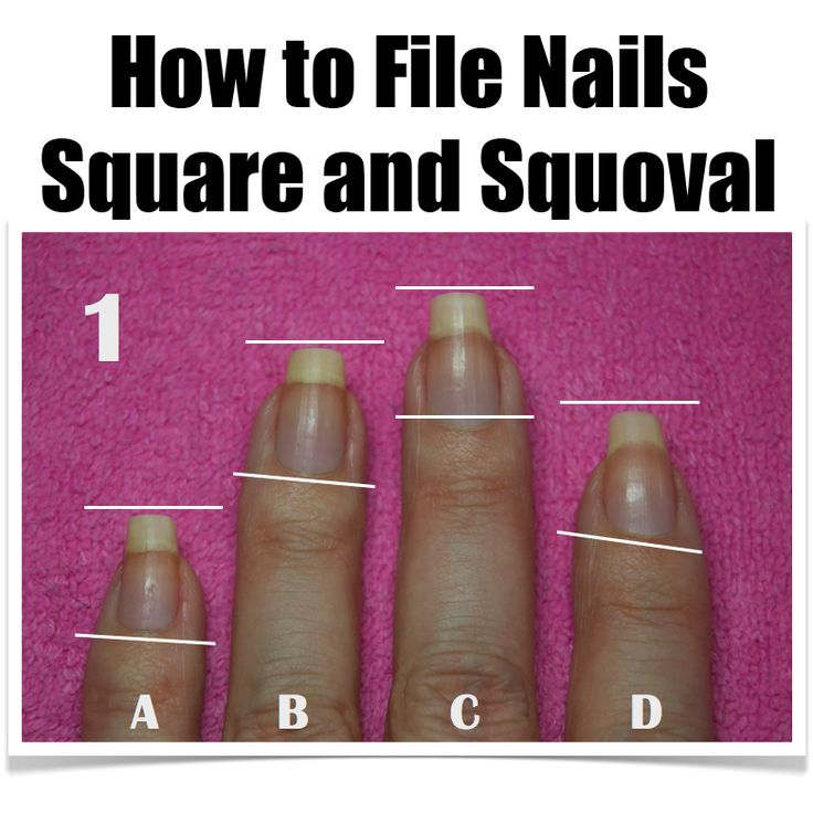 ASK ANA – How To File Nails the Square and Squoval Shape www.NailCareHQ.com