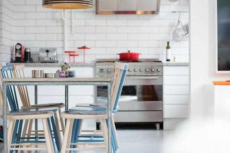 muebles mesa comedor cocina blanca