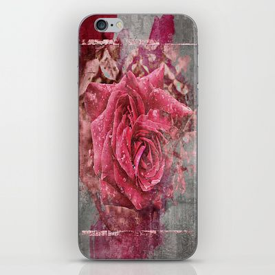 Pink Rose iPhone & iPod Skin by AngelEowyn - $15.00