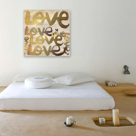 Oliver Gal & Co. Four Letter Word Canvas Print